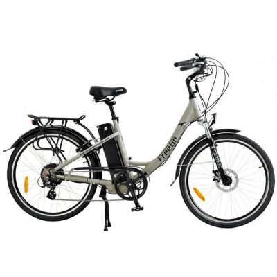 Freego Electric Bikes Grey Hawk Stepthrough